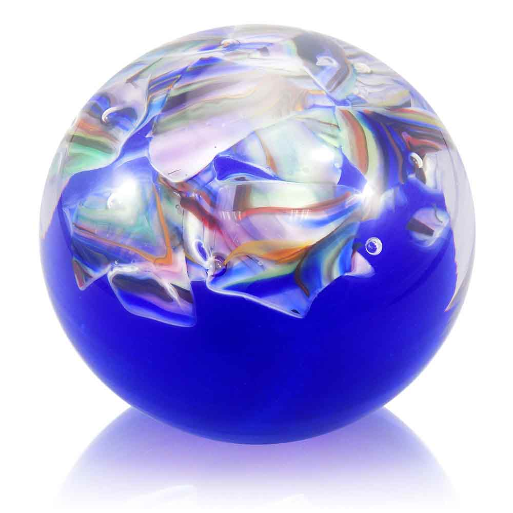 Average Price Of Wedding Gift: Crushed Wedding Glass Paperweight, Blown Glass Paperweight