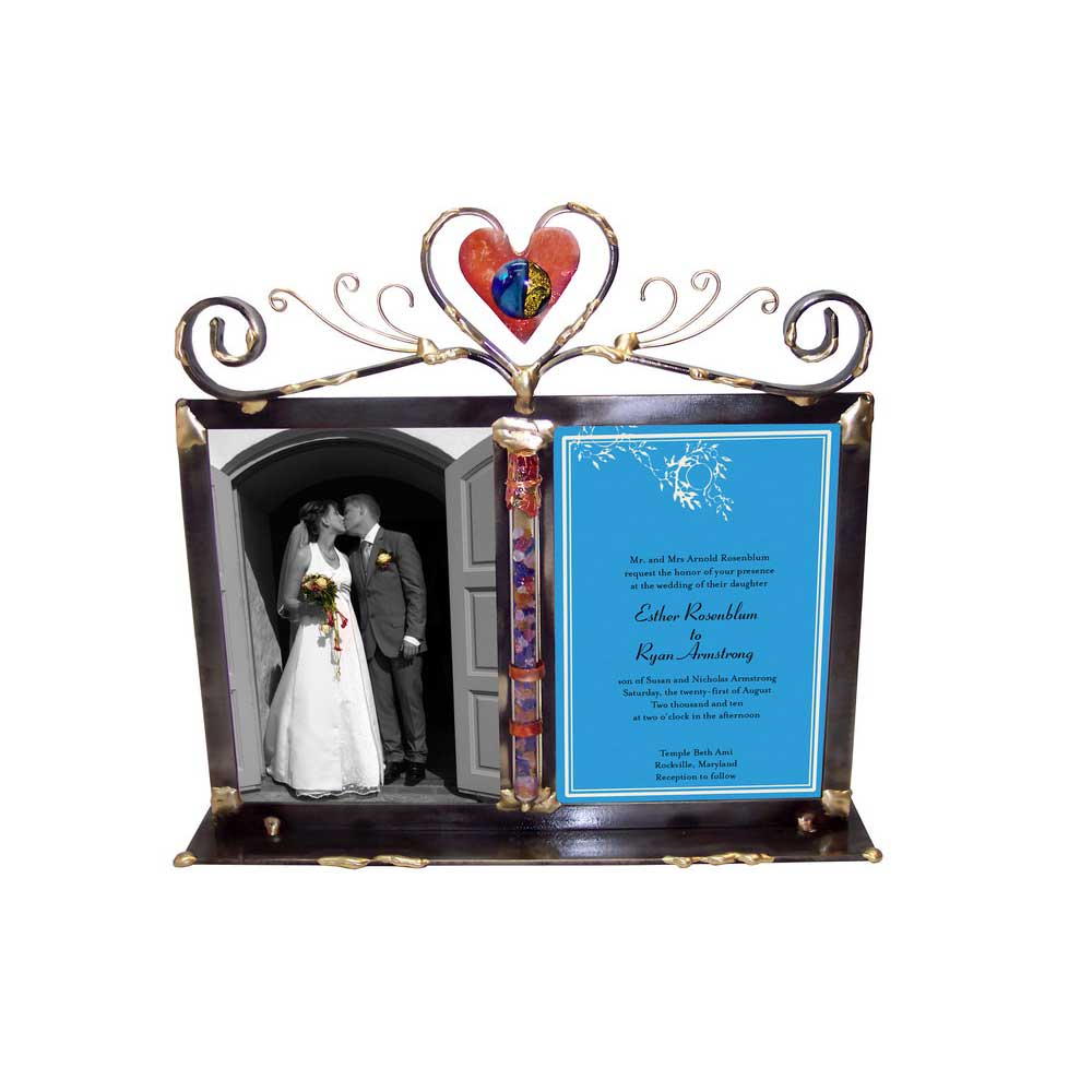 Jewish Wedding Gift Double Wedding Glass Picture Frame