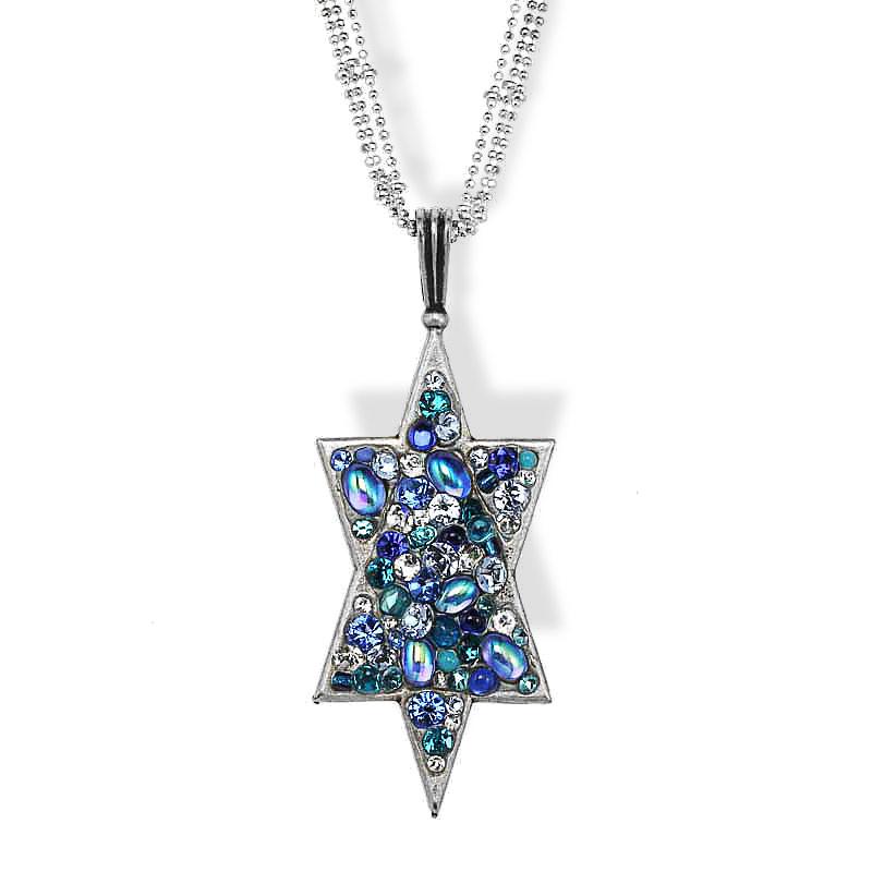 Jewish jewelry judaica fancy large star of david pendant for Star of david jewelry wholesale