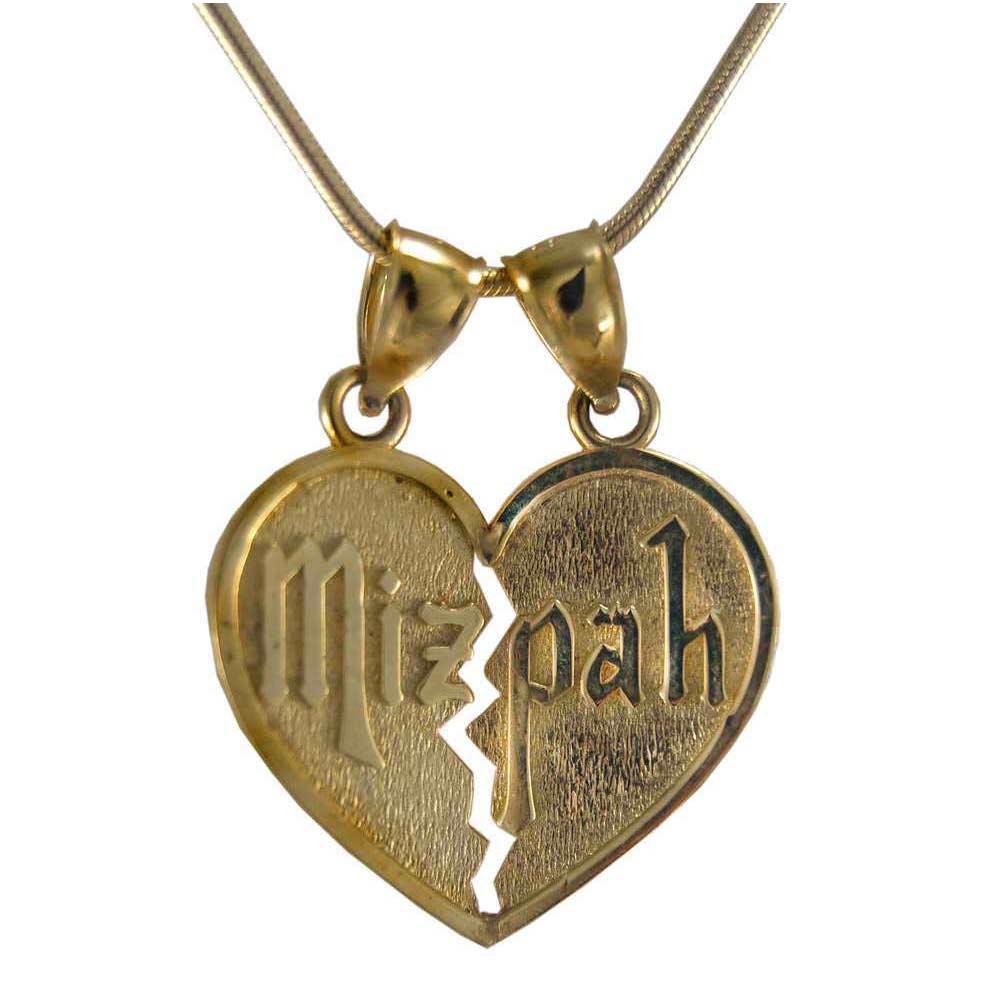 14k gold mizpah pendant aloadofball Choice Image