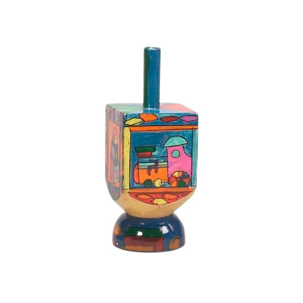 Toys For Hanukkah : Wooden toy dreidel