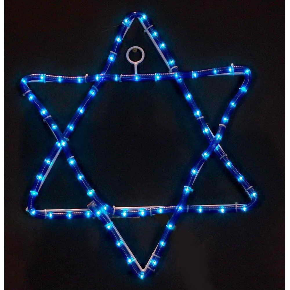 Jewish Star wedding gift Wood star hanukkah decor Light star chai star Blue and white Star