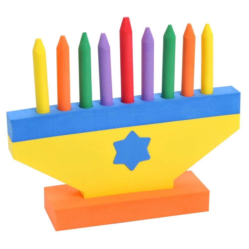 Toys For Hanukkah : Foam hanukkah toy menorah