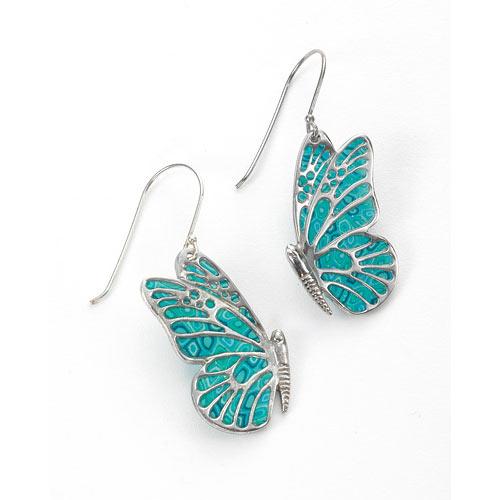 Light Blue Butterfly earring