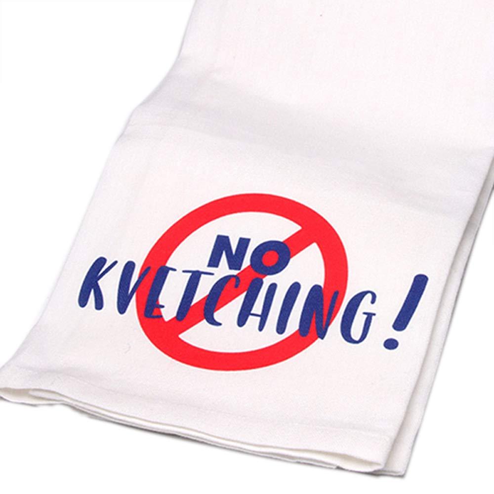 Hand-Printed No Kvetching Cotton Towel
