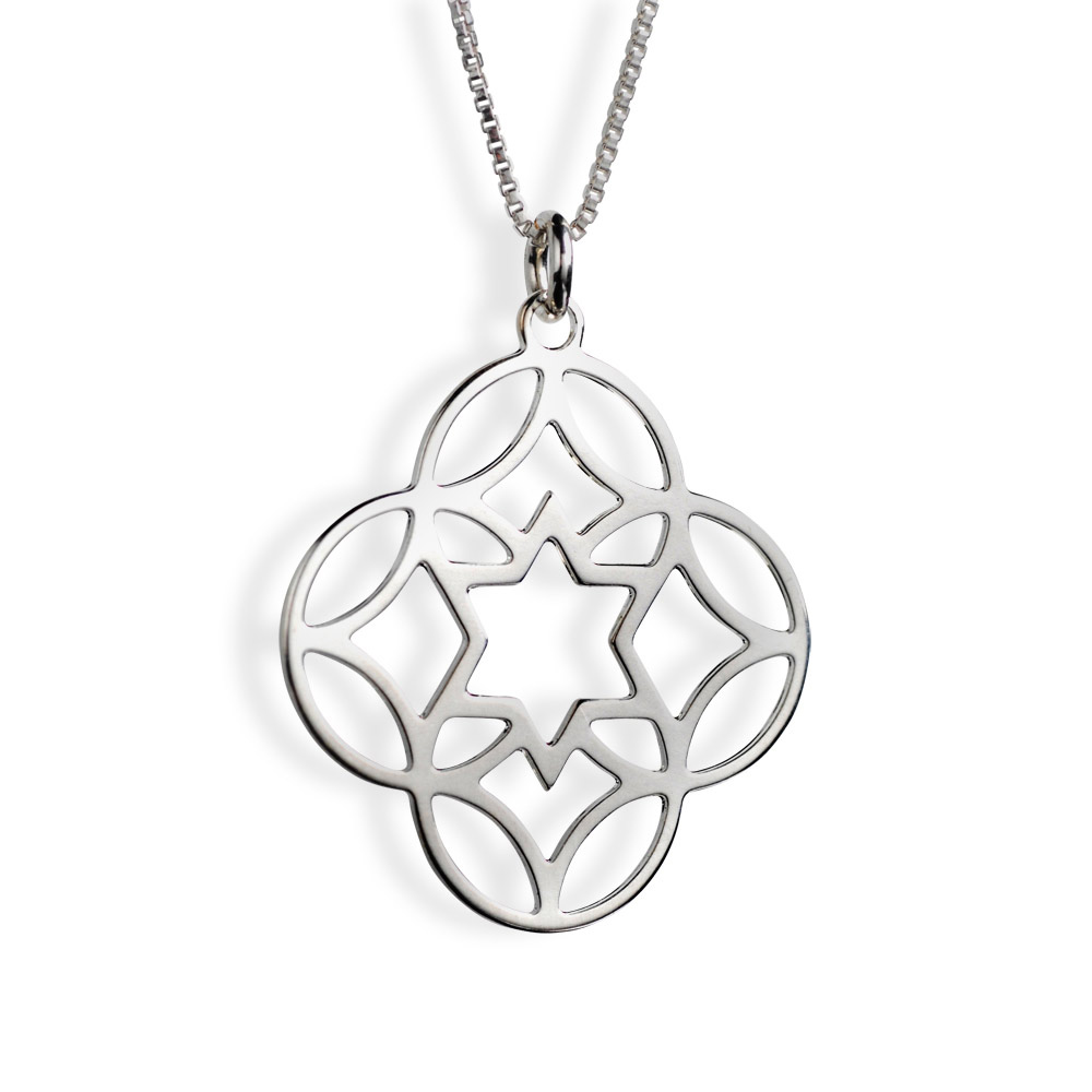 Shira Jewelry Israel Star of David Sterling Silver Necklace