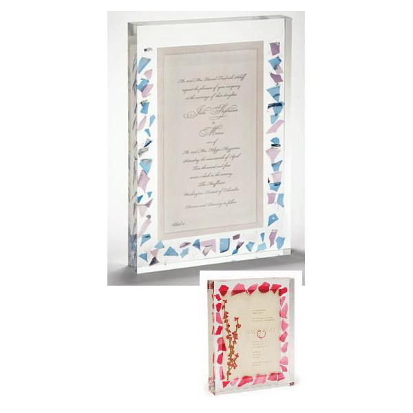 Wedding Glass Keepsake With Invitation