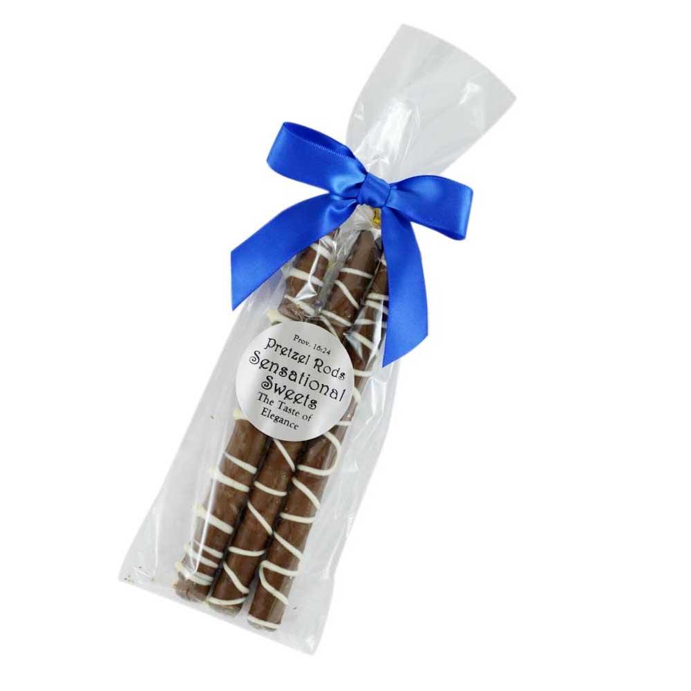 Hanukkah Gifts White And Milk Chocolate Pretzels