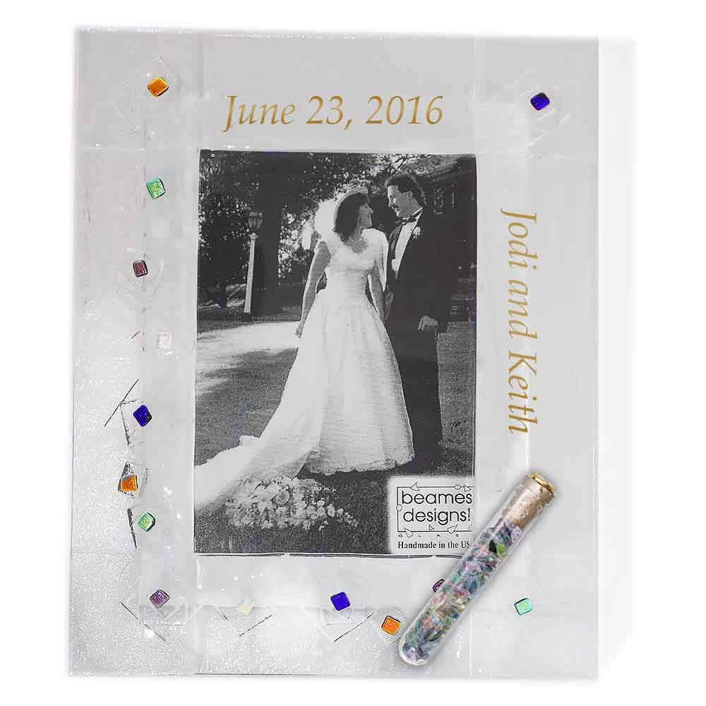 Jewish Wedding Gifts | Picture Frames | Geo Pattern Wedding Glass ...
