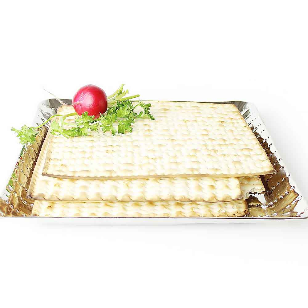 Hammered Nickel Matzah Tray in the Passover Catalog