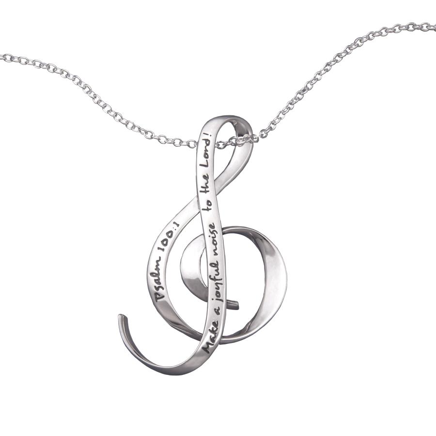 Jewish Jewelry Ladies Make A Joyful Noise Necklace