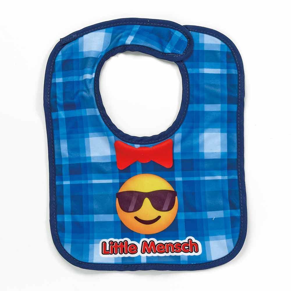 Jewish Baby Gift Baskets : Jewish baby gifts little mensch emoji bib