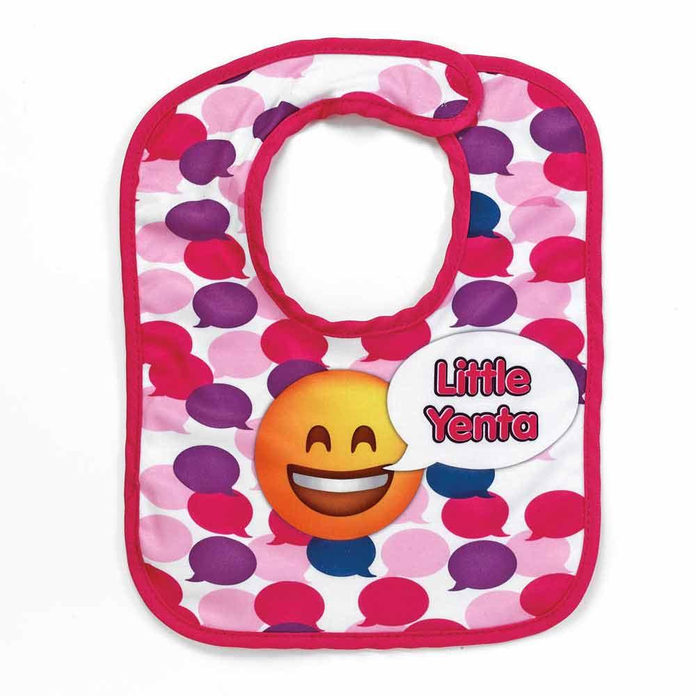 Jewish Baby Gifts   Little Yenta Emoji Bib