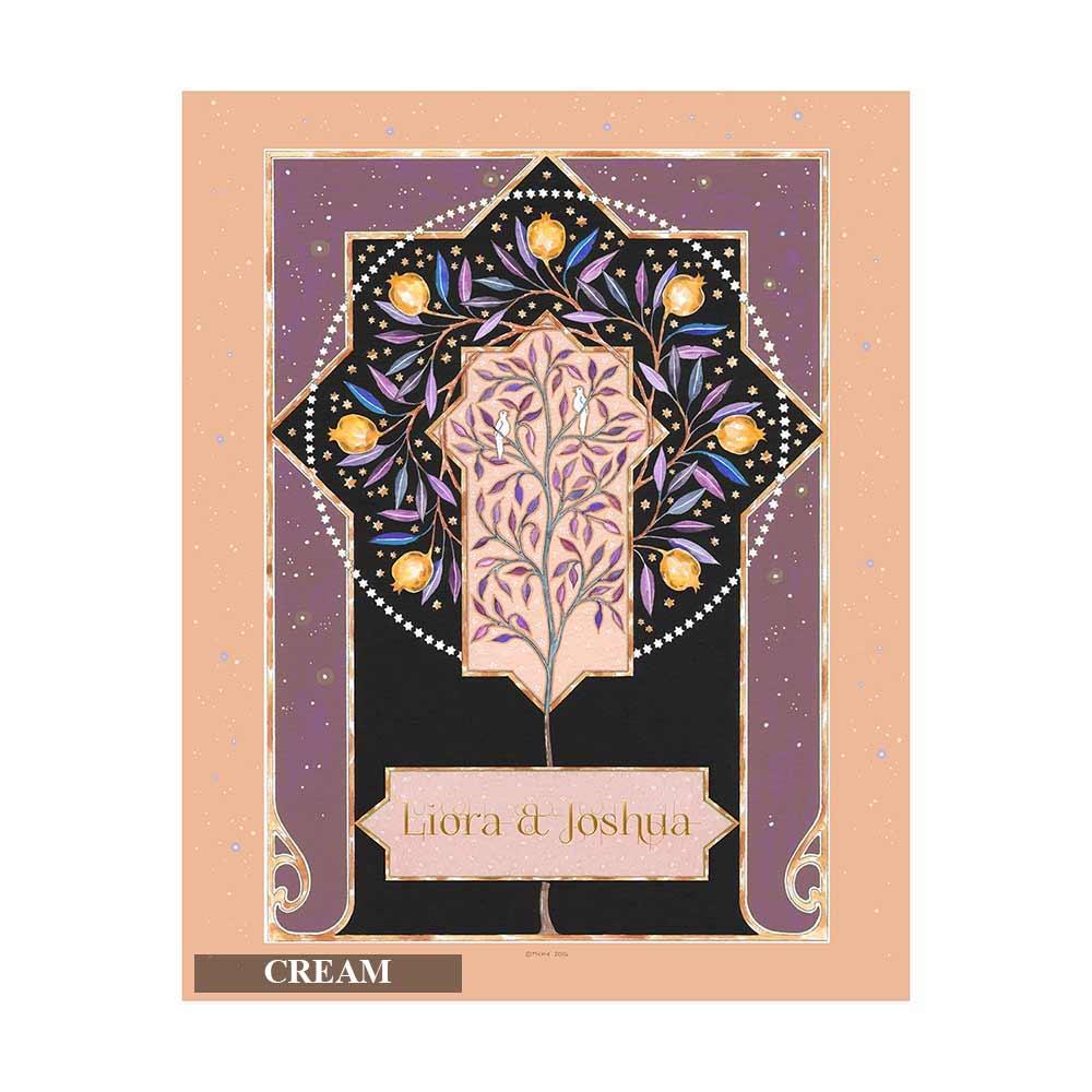 Wedding Gift Ideas Jewish : Jewish Wedding Gifts Personalized Lovebirds Personalized Art Print
