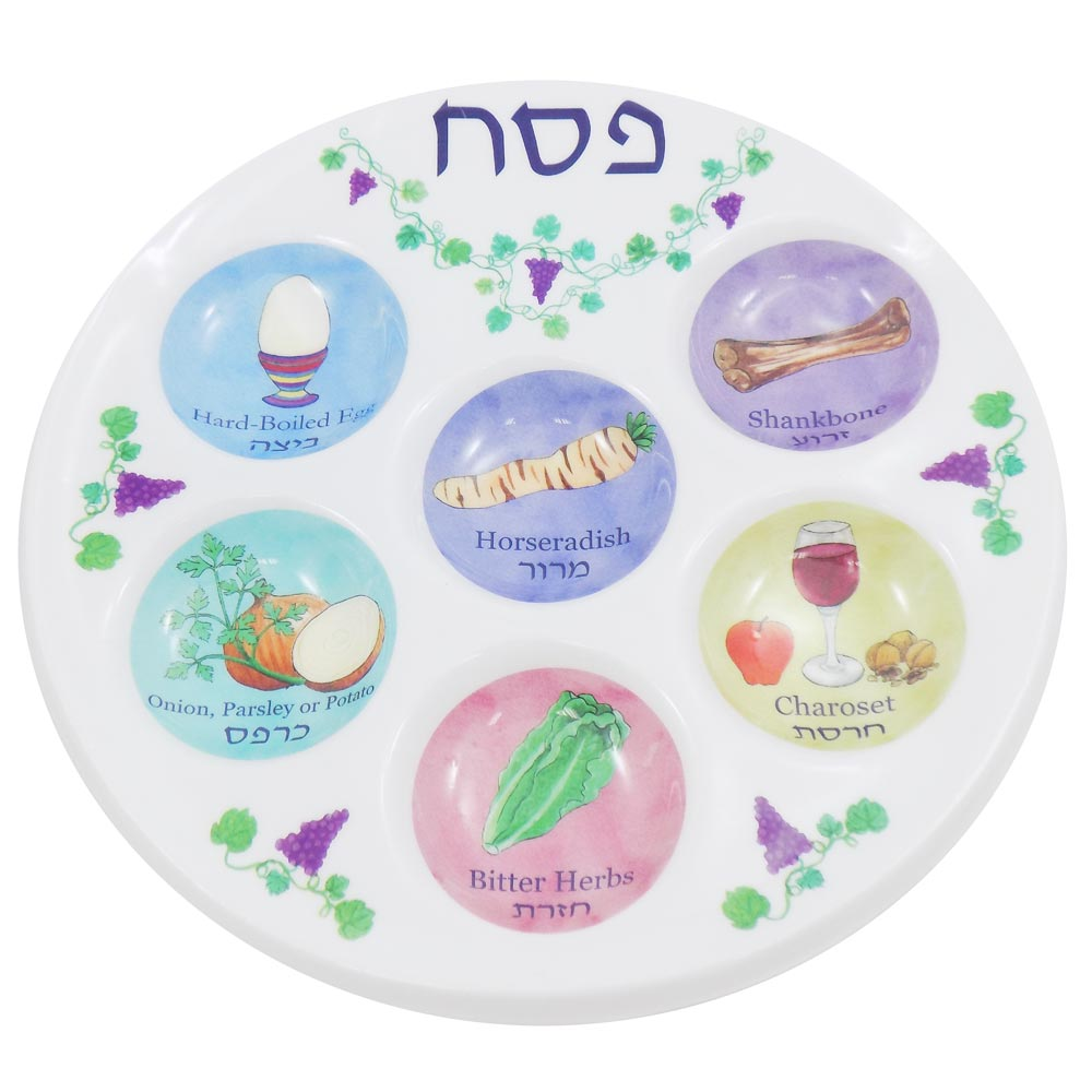 sc 1 st  Traditions Jewish Gifts & Passover Gifts Judaica - Plastic Reusable Seder Plate