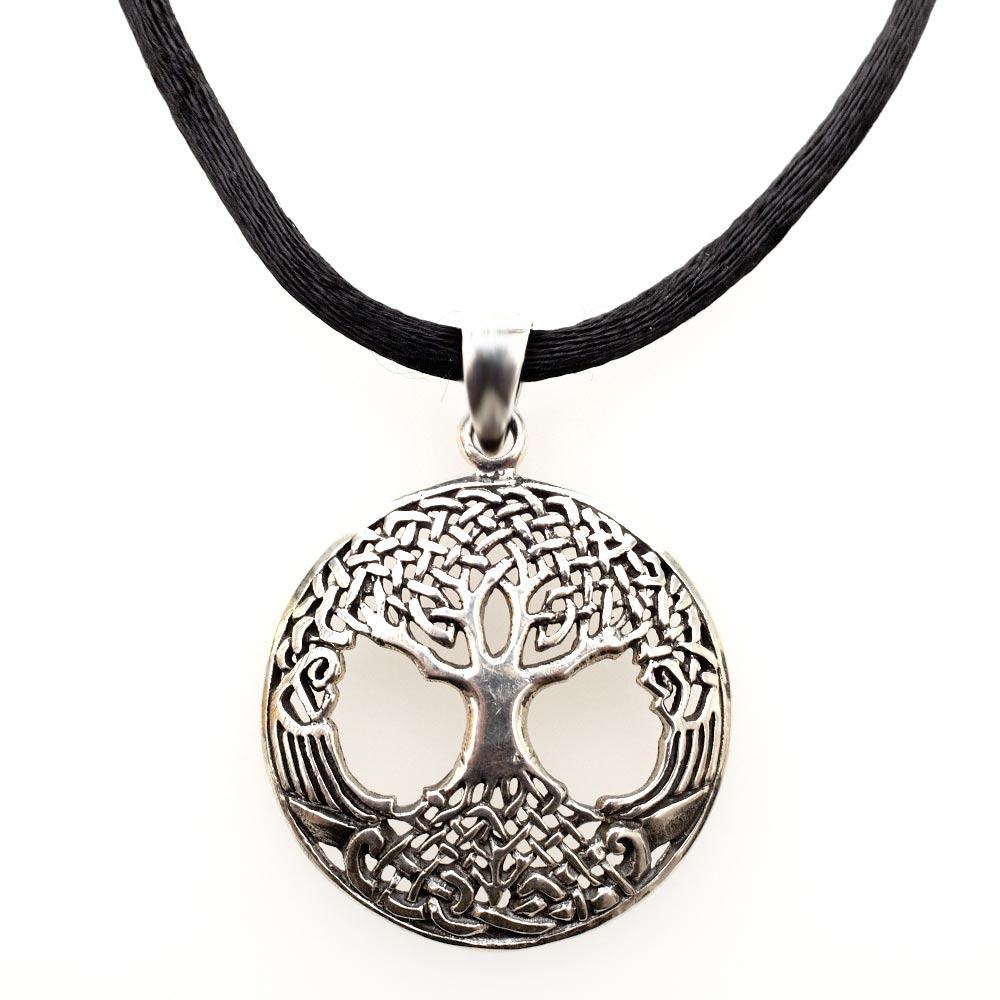 Jewish Jewelry Judaica Tree Of Life Woven Pendant Silver