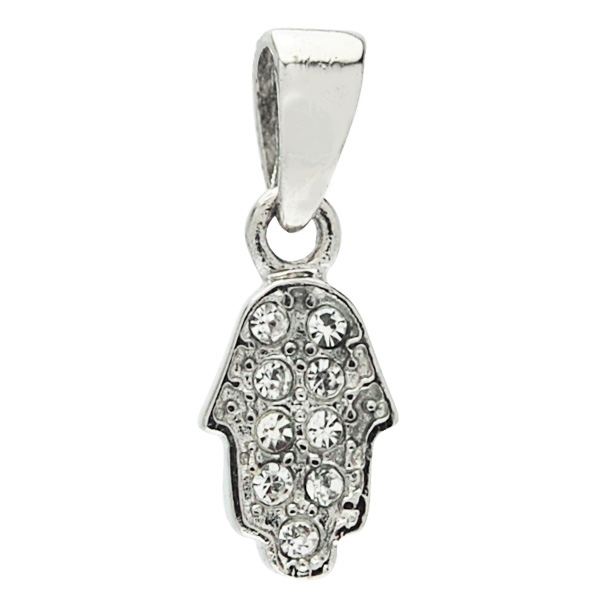 826e5c605aa Jewish Jewelry | Hamsa Necklace | Small Stainless Steel Hamsa Pendant