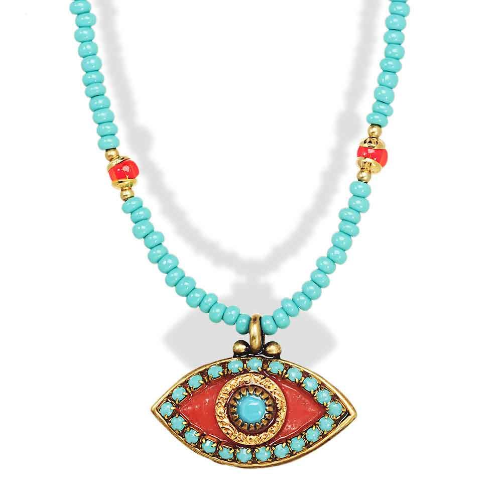 jewelry judaica turquoise evil eye pendant necklace