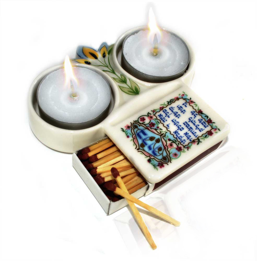 Travel Themed Wedding: Danny Azoulay Ceramic Shabbat Candle Holder