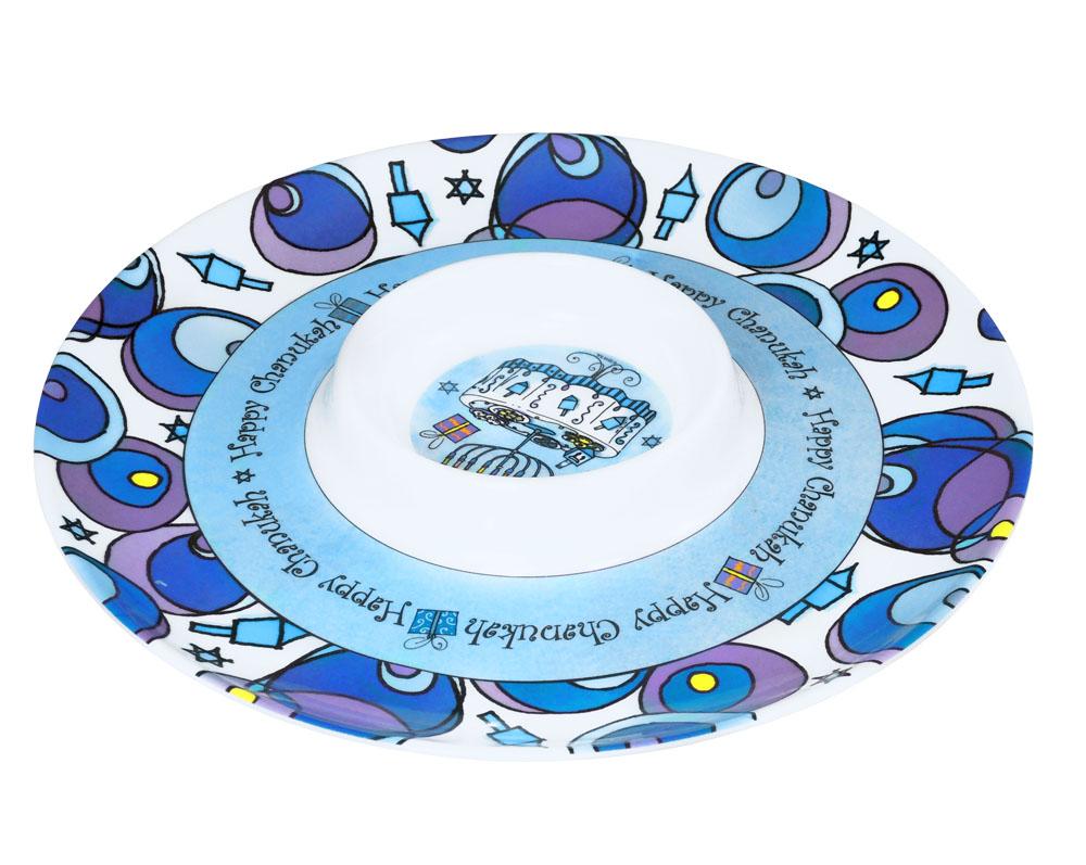 sc 1 st  Traditions Jewish Gifts & Hanukkah Latke Serving Plate Hanukkah Gifts