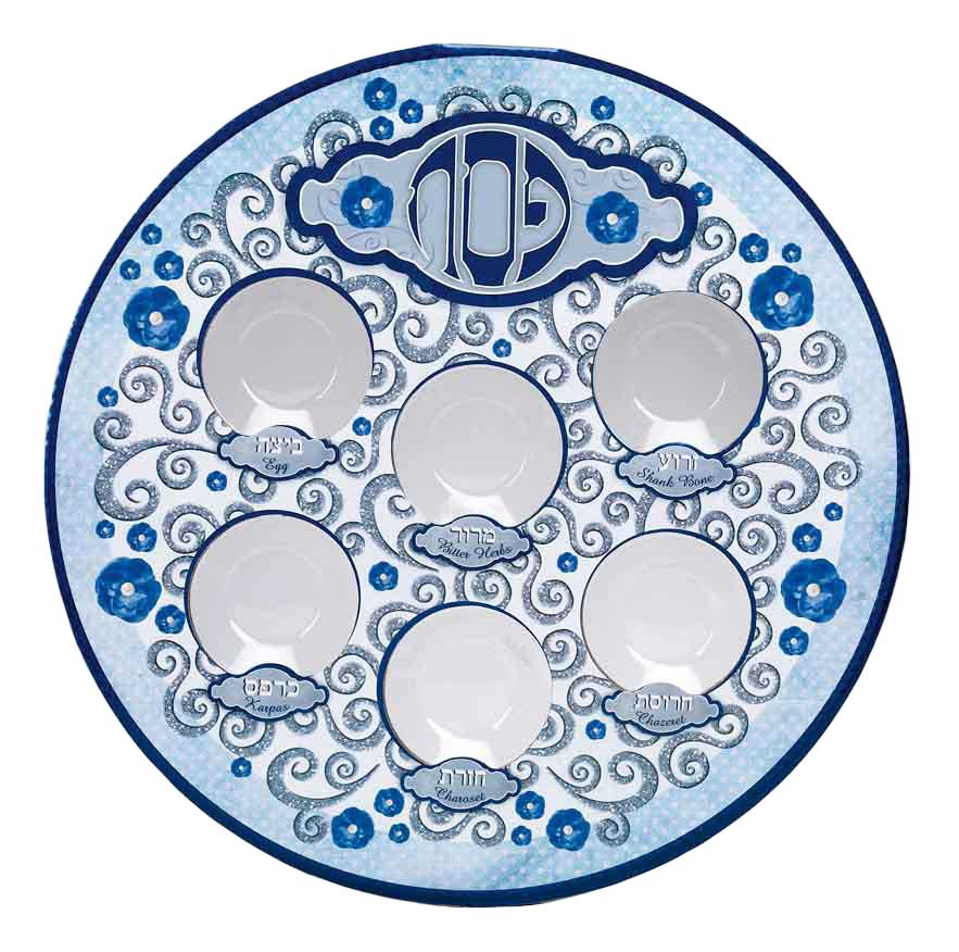sc 1 st  Traditions Jewish Gifts & Laminate Seder Plate With Decorative Design