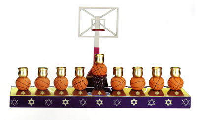 Basketball Themed Menorah
