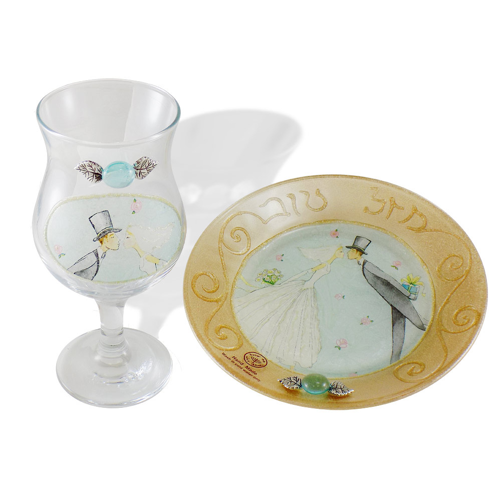 Traditional Wedding Gifts From Groom To Bride: Jewish Wedding Gifts-Bride Groom Wedding Kiddush Cup Set