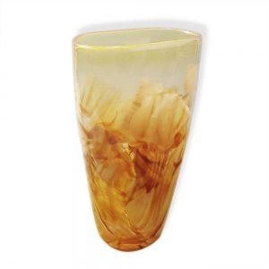 Amber Oval Wedding Glass Vase