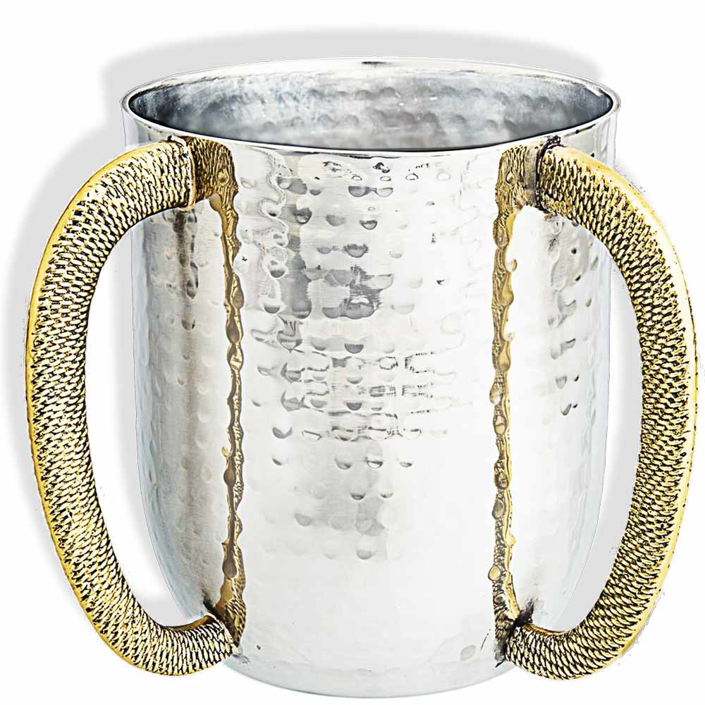 Hammered Stainless Steel Hand Wash Cup