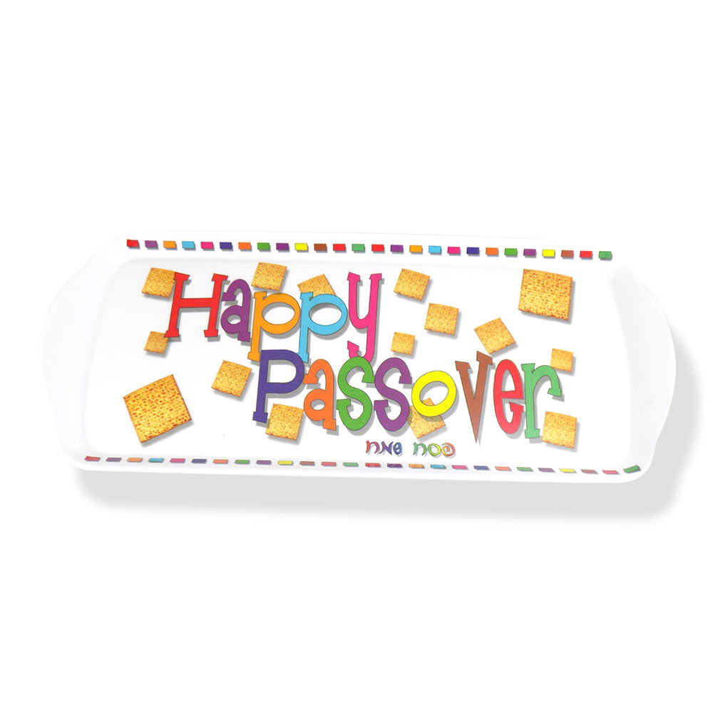 passover gifts - happy passover melamine tray|passover