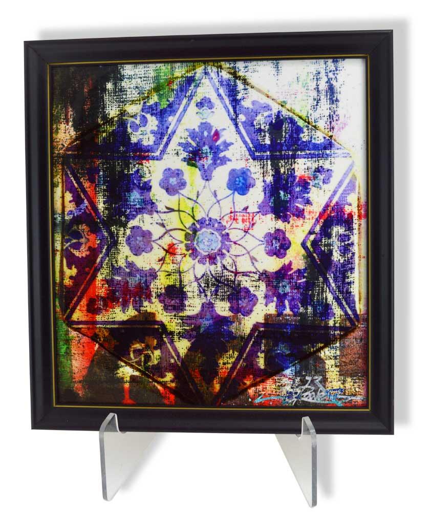 Jewish Gifts Limited Edition Floral And Hamsa Wall Art