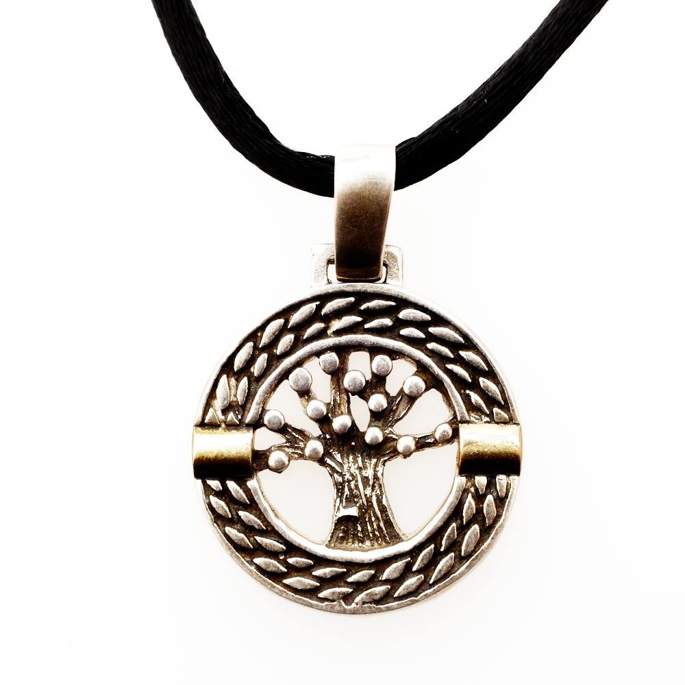 Jewish JewelryJudaica Tree Of Life Medallion Silver Gold